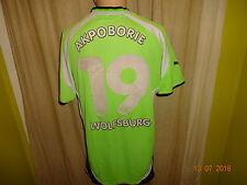 """VfL Wolfsburg Puma Trikot 2000/01 """"VW"""" + Handsigniert + Nr.19 AKPOBORIE Gr.L"""