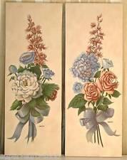 Bilder handgemalt auf  Leinwand 2-er Set ca. 78 x 30cm  + Dekoaufhänger