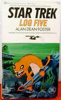 1975   Star Trek  LOG FIVE   Paperback Book