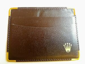 Rolex Leather Genuine Card Holder