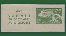 FRANCE VIGNETTE 1946 Cannes 20 sept au 20 oct. Festival du film,Cinderella label