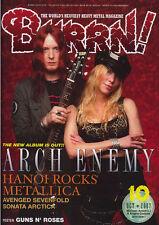 Burrn Oct/2007 Arch Enemy Hanoi Rocks Metallica Avenged Sevenfold Sonata Arctica