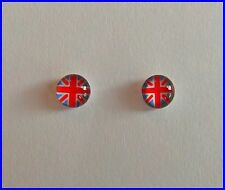 Pair  Of  Union  Jack  Silver ( 925)  Earstuds  !!           Brand  New  !!