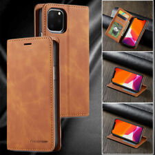 iPhone XR X XS 11 Pro Max 7 8 6S Plus 5S SE Case, Leather Wallet Slot Flip Cover