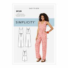 Simplicity Sewing Pattern S9125 Misses' Dresses Jumpsuit or Playsuit XXS-XXL EAS