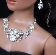 """Rhinestone Necklace and Earring Jewelry Set for 16"""" Tonner Tyler 064B"""