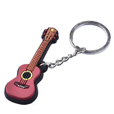 Fashion Creative  Guitar Ukulele Violin Shaped Keyfob Car Keyring Keychain Ring