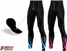 FCX Womens Cycling Tight Pants Padded Winter Bicycle Biking Thermal Trouser Long