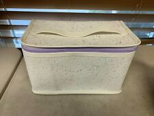 Clinique Skincare Makeup Beauty Cosmetic Train Case Bag Glitter White/Purple
