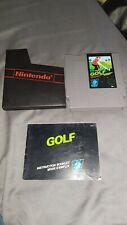 Nintendo NES Golf version ASD cartouche + notice + fourreau nintendo
