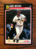 1991 Score #330 Barry Bonds Baseball Card Pittsburgh Pirates Raw