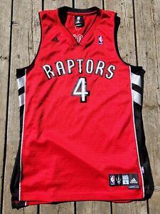 Chris Bosh #4 Toronto Raptors Adidas Jersey Size Men L Red/Black NBA