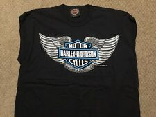 Vintage Harley Davidson Bar And Shield sleeveless black Shirt Nwot Men's Large