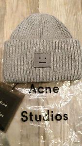 Acne studios Face-patch beanie light gray