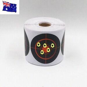 100pcs Roll Shooting Adhesive Targets Splatter Reactive Target Sticker AU