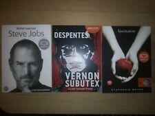 Lot 3 audiolib Steve Jobs Isaacson Despentes Vernon Subitex 1 Meyer Fascination