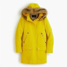 JCrew Chateau Parka Italian Stadium-Cloth Wool 6 Bright Butternut G9093 Coat