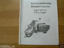 H0103 HEINKEL---INSTRUCTIE BOEKJE TYP 103A_2 4-TACT 175cc----MODEL