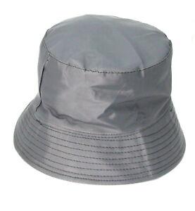 Rainproof Bucket Hat GREY Women's Men's Outdoor Fashion FREEPOST Waterproof