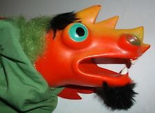 Vintage 1970s DRAGON Hand Puppet Toy