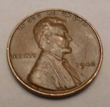 1942 P Lincoln Wheat Cent / Penny Coin  *FINE OR BETTER*  **FREE SHIPPING**