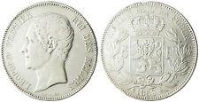 BELGIQUE  LEOPOLD  I°  ,  5  FRANCS  ARGENT  TETE  NUE  1850