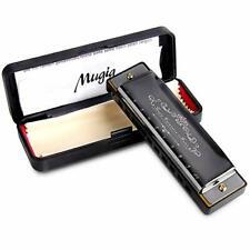 Mugig Diatonic Harmonica Standard 10 Hole Harmonica With Case Key