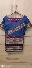 Benarosi Multi Clr Saree Wth F/ LIned Blouse 14R.Ready To Wear.Ranguli. Kolkata.