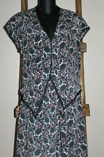 2 Pc~Vintage~LILY of FRANCE~Pajama PJ SET~Paisley~CAP SLEEVE~Lace Trim~MEDIUM