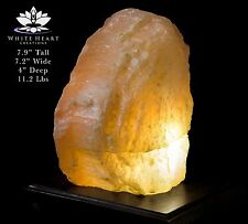 """7.9"""" Red Selenite Crystal Lamp With Black Walnut Base - RC-916-18 (Exact Lamp)"""