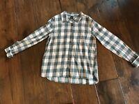 GapKids Gray & Pink Plaid Shirt in Girls Size (14-16)