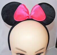 Womens Mouse Ears Black Aliceband Ladies Fancy Dress Book Week Party Accessory
