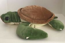 "Sea Turtle plush hand puppet Wild Republic 17""-18"" green brown big eyes"