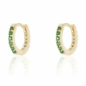 925 Sterling Silver Plated Crystal Huggie Hoop Earrings Women Jewellery Gift