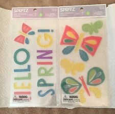 Spritz Gel Window Clings, Two Packs, Spring Themed, New