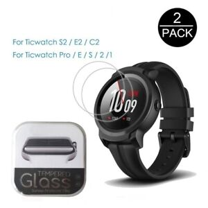 2Pcs Tempered Glass Screen Protector Film 9H 2.5D For Tic Watch S2 E2 C2 C2+ GTX