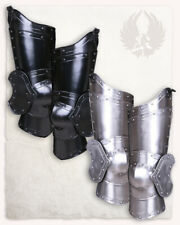 LARP 18GA Steel Medieval Knight Balthasar leg armor Pair Of Upper Leg Armor