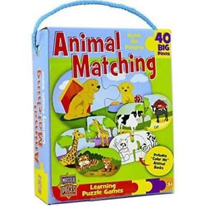 Masterpieces Animal Matching Learning Puzzle Games , Multicolor  40 PIECES