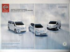 PUBLICITE-ADVERTISING :  NISSAN Evalia Leaf Fourgon [2pages] 2015 Voitures