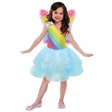 Bambine Ufficiale Barbie Arcobaleno Principessa Fairy Fiaba Costume