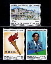 GUINEA ECUATORIAL 1989 115/17 CONGRESO PDGE 3v.