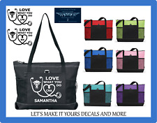 CNA LPN RN NURSE PERSONALIZED TOTE PURSE BAG STETHOSCOPE HEART LOVE WHAT YOU DO