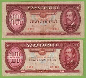 Hungary - Lot - 2 banknotes - 1975-89 - VF Paper Money Currency Bill