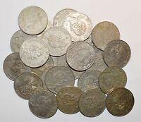 MEXICO lot UNSEARCHED CINCO PESOS vintage large 3 COINS