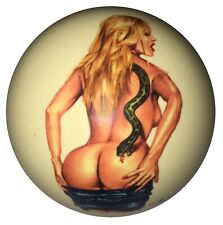 Pool/Billiards Snake Girl Pin-Up Custom Cue Ball Great Gift! NEW