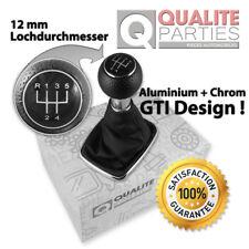 SCHALTKNAUF + SCHALTSACK VW GOLF 4 IV BORA GTI GTD DESIGN TUNING ALU CHROM 12mm