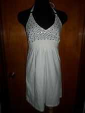 Victoria's Secret Bra Tops Top White Sequin Beach Sundress Dress Tee Cover Up S