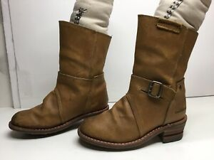 VTG WOMENS CATERPILLAR ENGINEER SUEDE BROWN BOOTS SIZE 6