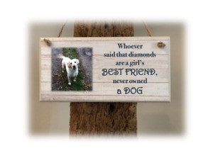 PERSONALISED PLAQUE, SIGN. PHOTO & QUOTE. Dog Best Friend. Gift