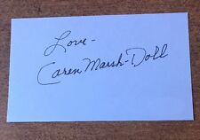 Caren Marsh Doll Hand Signed Index Card Jsa Coa Wizard Of Oz